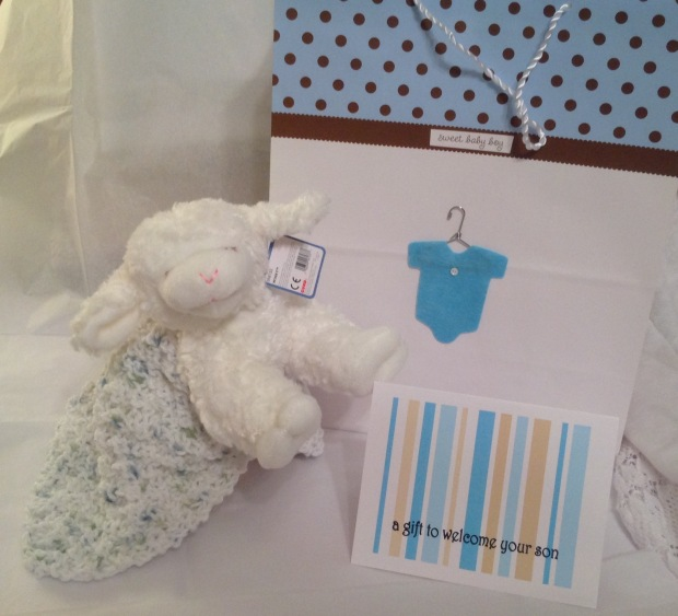 Add Knitted Mini Blanket To Baby Gift Long Tail And Short Tales