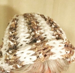 bulky roll-brim hat original pattern