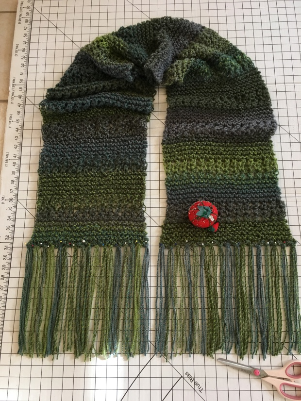 Long, dramatic scarf teal (1)